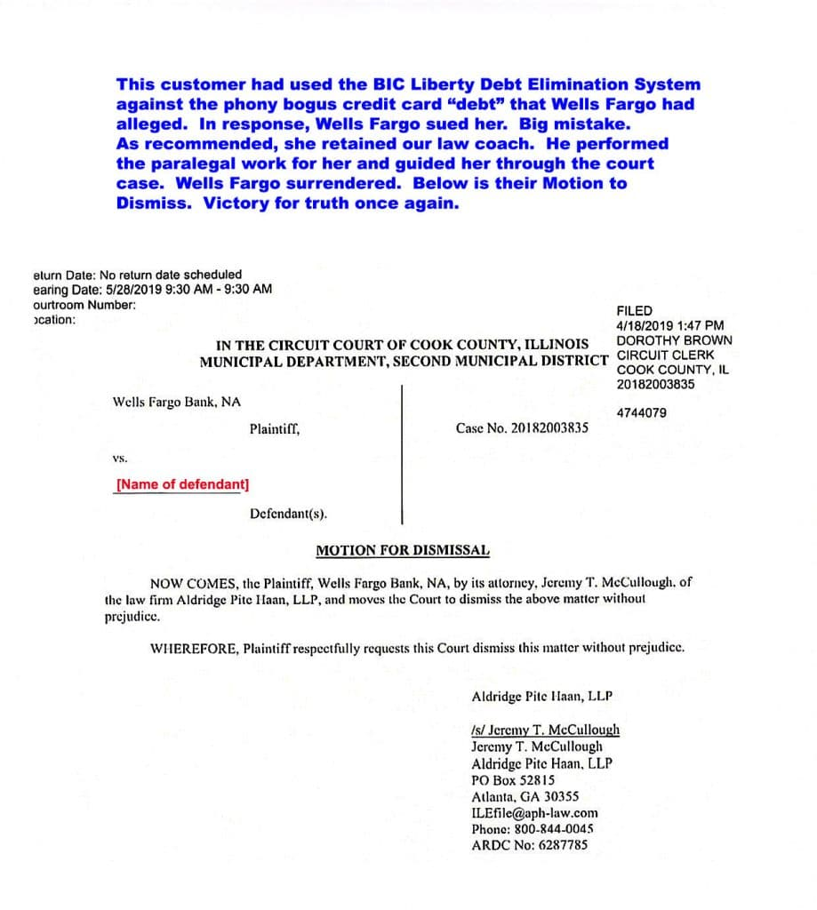 Victory_Motion_to_Dismiss against Wells Fargo